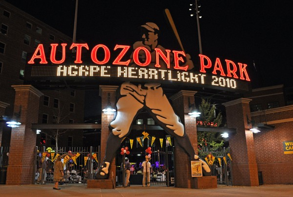 AutoZone Park welcomed Agape Heartlight 2010 to the home of the Redbirds, Memphis' AAA baseball team.