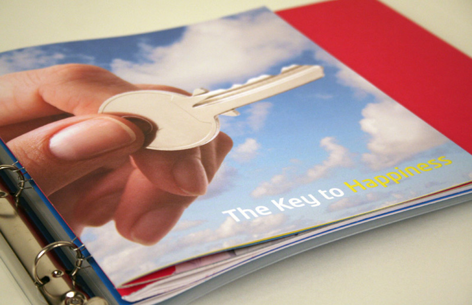 """""""The Key to Happiness"""" introduced users of the ColorLok brand and reminded them of their role in making end-users happy with the paper-enhancing benefits of ColorLok Technology."""