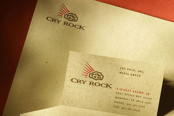 Cry Rock Media corporate identity
