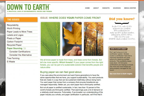 Down to Earth website