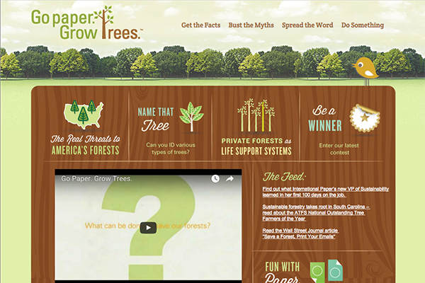 Website for an educational program of International Paper: www.gopapergrowtrees.com