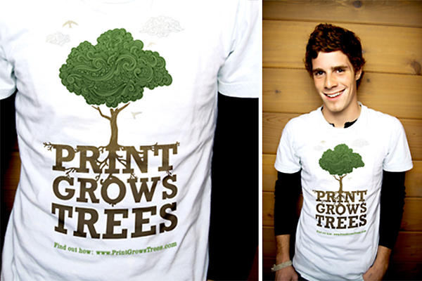 "A popular way for PGAMA members and other industry supporters to help spread the word that ""Print Grows Trees""."