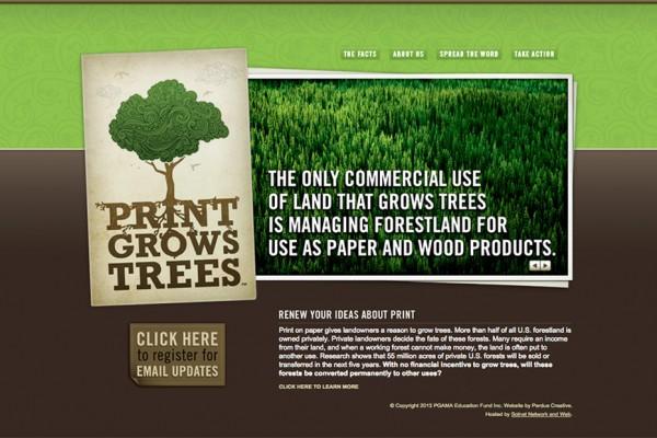 Print Grows Trees educational website