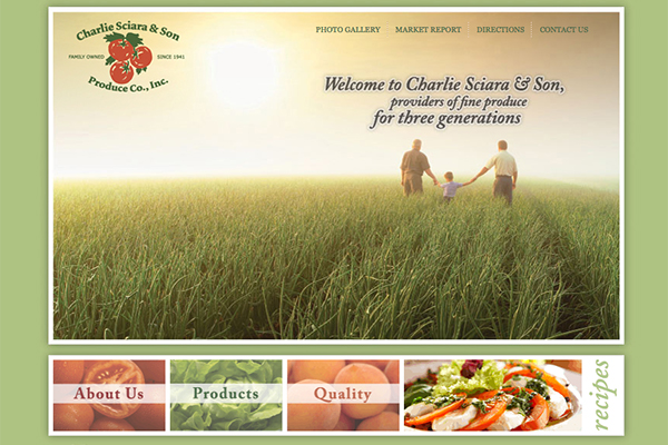 Sciara Produce website