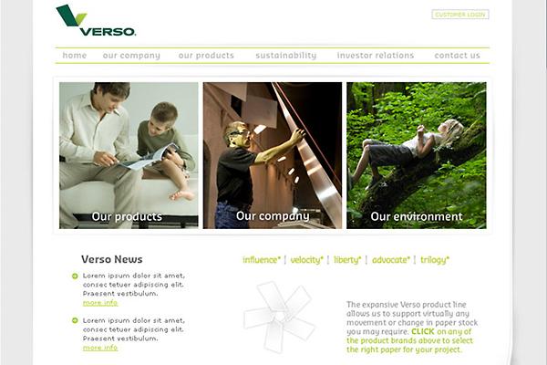 Verso Corp website