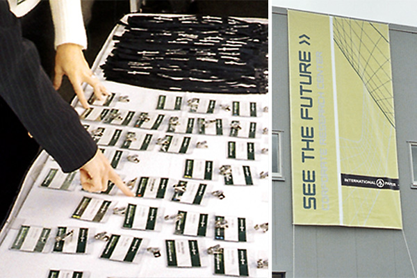 From a large building wrap banner to individual name tags, the campaign theme was apparent throughout the grand opening event.